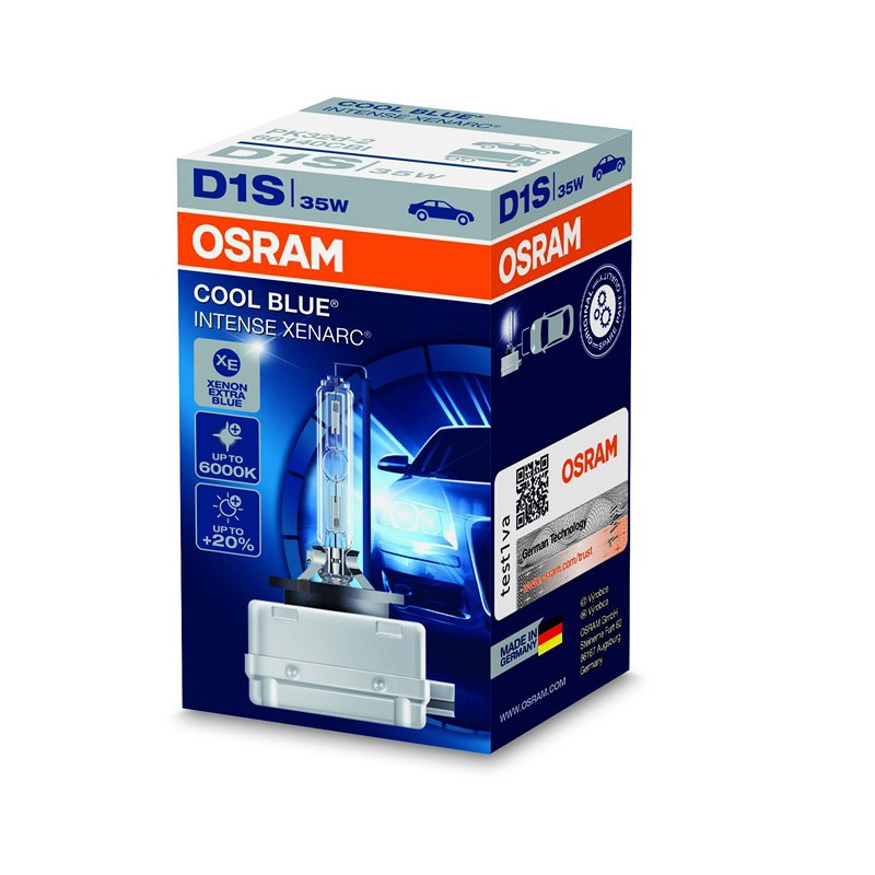 D1S Xenarc Cool Blue Intense +20% 66140CBI 35W PK32D-2 4X1  FS1 by OSRAM