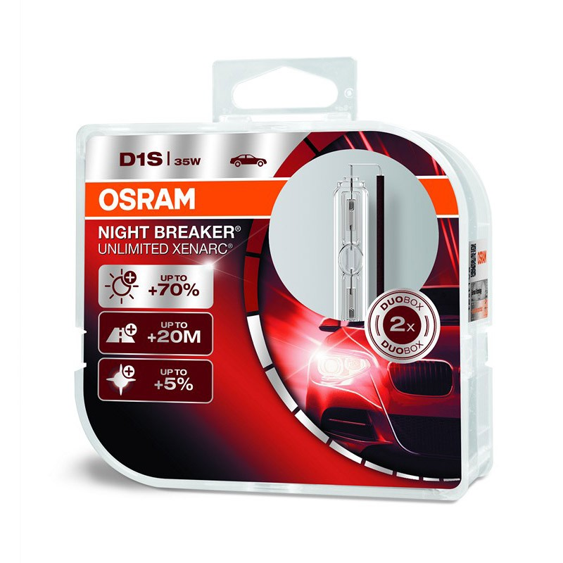 D1S Xenarc Night Breaker Unlimited +70% 66140XNB 35W PK32D-2 HCB2 by OSRAM