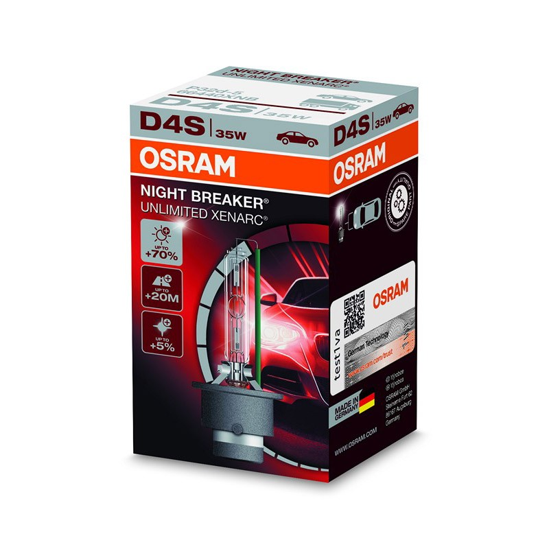 D4S Xenarc Night Breaker Unlimited +70% 66440XNB 35W P32D-5 4X1  FS1 by OSRAM