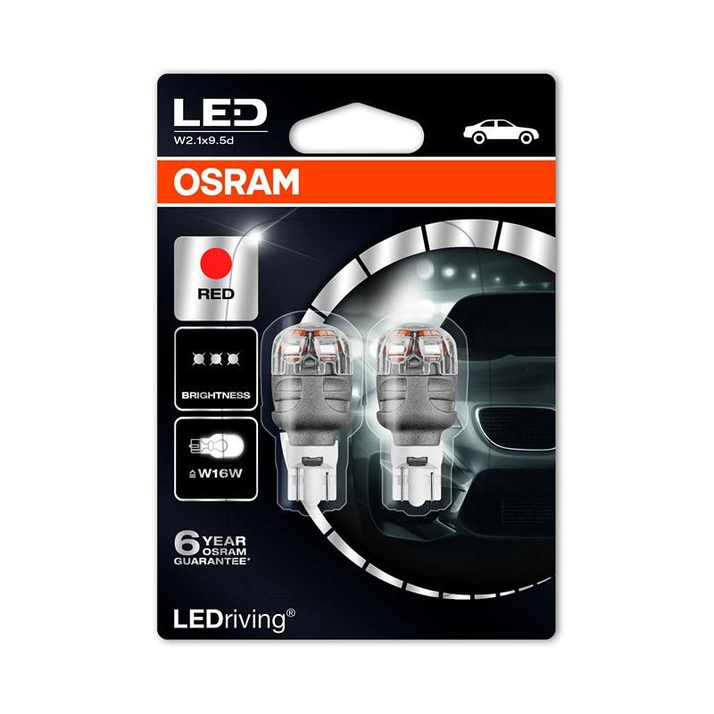 W16W (T16)  9213R-02B 2W 12V W2.1X9.5D BLI2 by OSRAM
