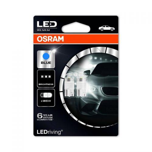 W5W  2850BL-02B 12V W5W BLUE  6.800K (M1) by OSRAM