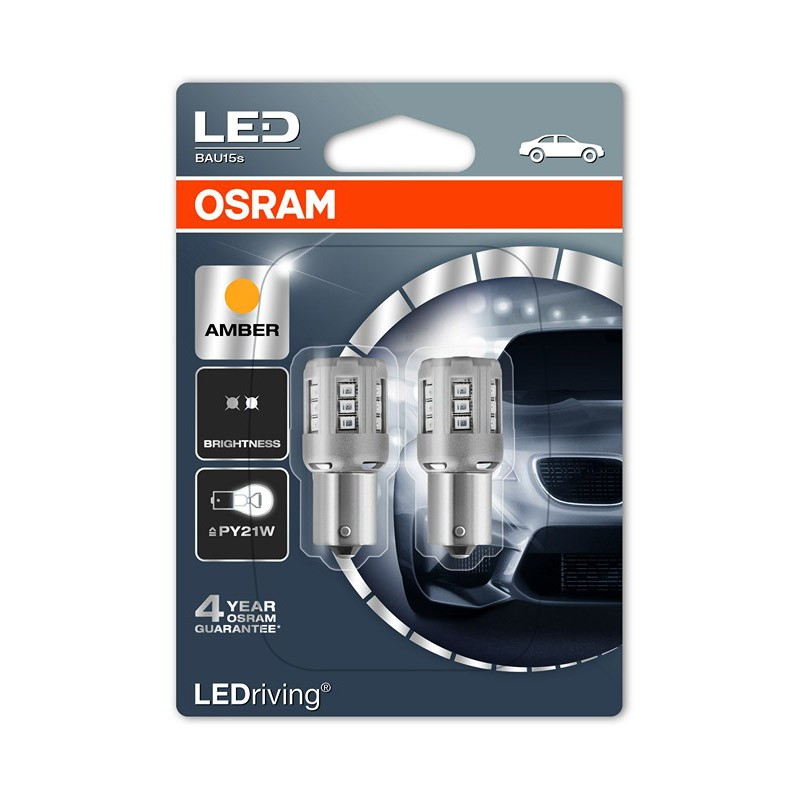 PY21W  7457YE-02B 1W 12V BAU15S BLI2 by OSRAM