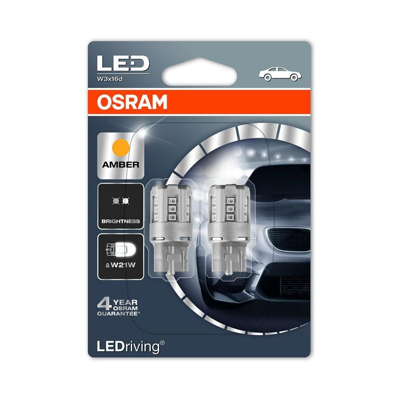WY21W (T20 SC)  7705YE-02B 1W 12V W3X16D BLI2      OSRAM by OSRAM