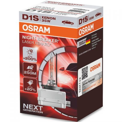 D1S XENARC® NIGHT BREAKER® LASER +200% 66140XNL 35W PK32D-2 FS1 by OSRAM