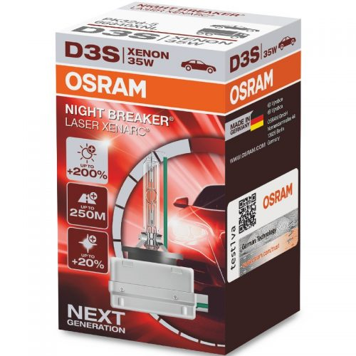 D3S XENARC® NIGHT BREAKER® LASER +200% 66340XNL 35W PK32D-5 FS1 by OSRAM